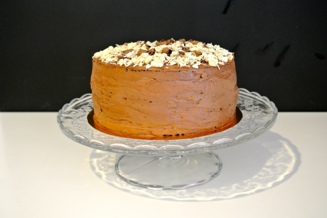 Čokoládově čokoládový dort s čokoládovým krémem