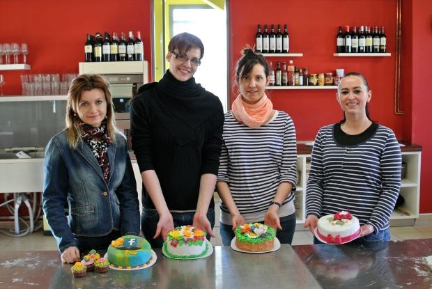 Celá dortová skupinka a jejich krásné dorty.