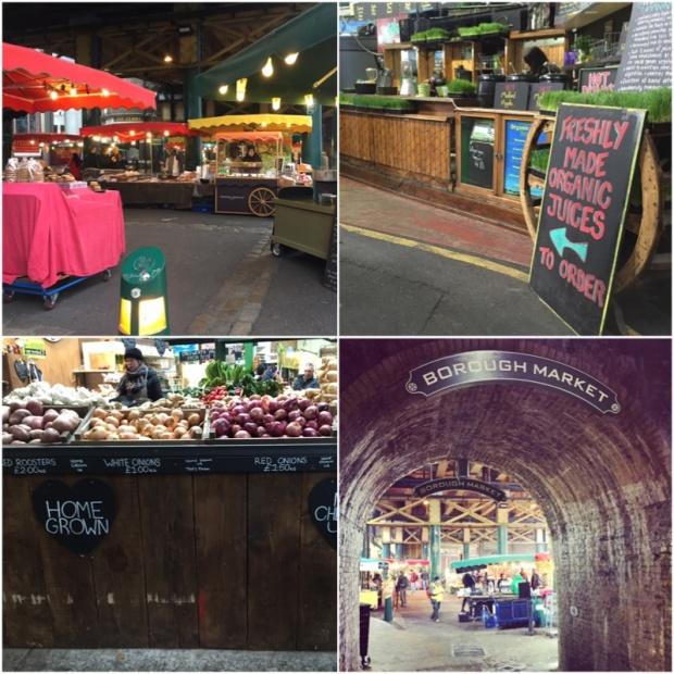 Borough Market, tak jak ho zastihnete ve všední den. Bez lidí a krásný.