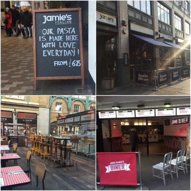 Pár pohledů na Jamieho restaurace. Krásné jsou moc. POkud do Londýna ještě někdy pojedu, asi bych nějakou zkusila, ale tentokrát jsme prostě upřednostnili něco méně komerčního.