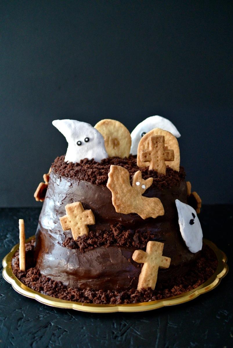 Čokoládový strašidelný dort