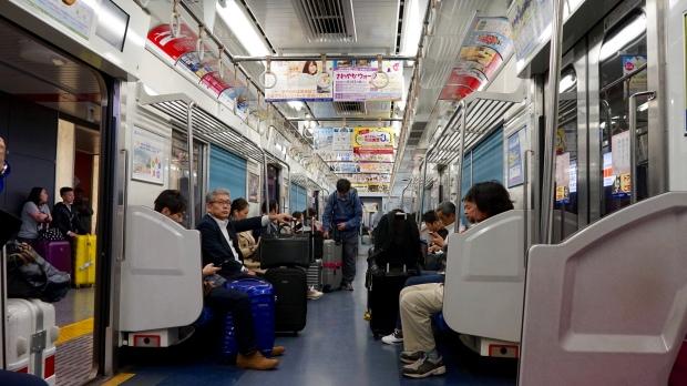 Tokijské vlak na JR line.