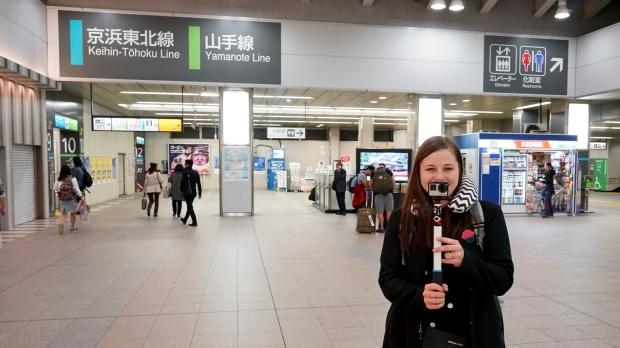 Na nádraží v Tokiu