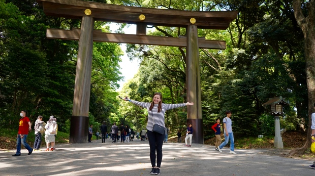 Cestou k chrámu Meiji Jingu