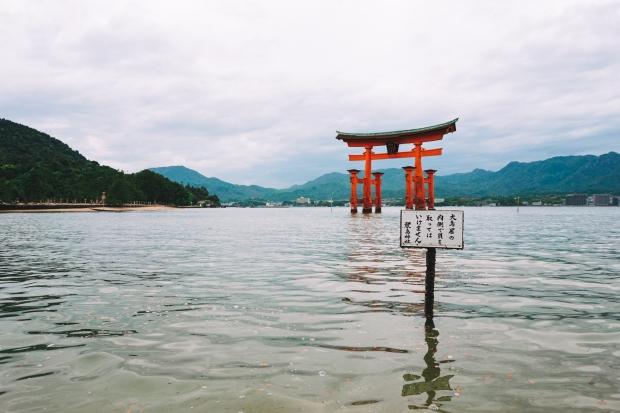 Torii - nejznámější obrázek ostrova Miyajima