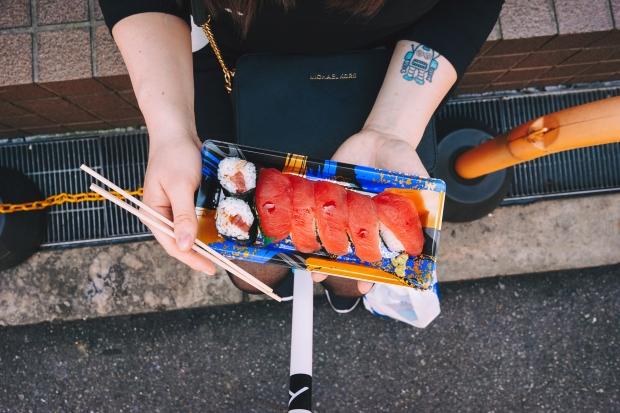 Sushi s jedním z nejlepších tuńáků jaké jsem kdy jedla.